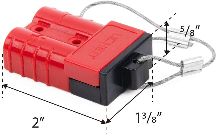 12-36V DC HYCLAT Red 6-10 Gauge Battery Quick Connect//Disconnect Wire Harness Plug Connector Recovery Winch Trailer 50A