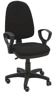 La Silla de Claudia - Silla giratoria Torino negro ergonómica resposabrazos y asiento ajustable con…