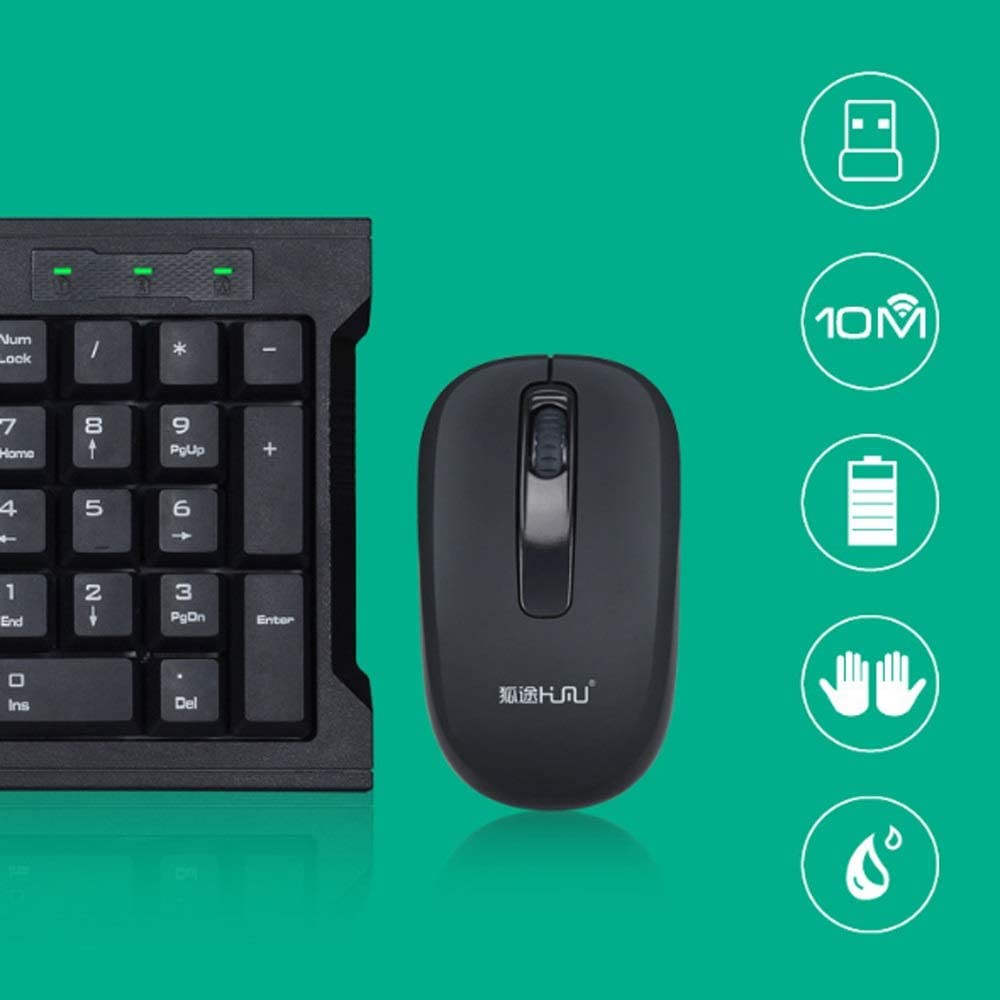 USB Mouse and Keyboard Set Office Game TV Universal Home,for Computer Notebook Waterproof Wireless Keyboard and Mouse Set PC Desktop Laptop