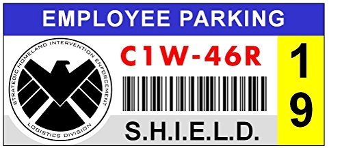 S.H.I.E.L.D. Window Cling Parking Decal (Parking Decal)