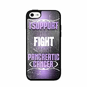 I Support The Fight Against Pancreatic Cancer Plastic Phone Case Back Cover for ipod Touch 4