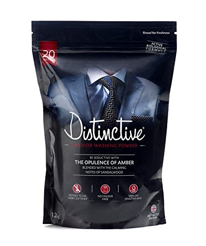 Distinctive Washing Powder - Laundry - Powder detergent - Bio washing powder - Masculine Fragranced - Eco Laundry Detergent - (Pack of 1)