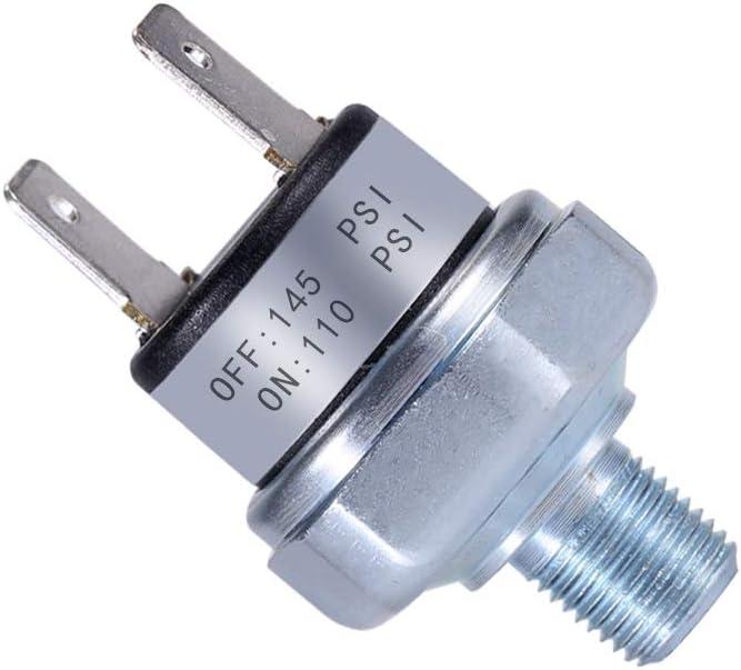 FanWayer Air Pressure Switch 110-145 PSI Pressure Switch 1//8-27 NPT DC 24V 12V Pressure Switch Air Compressor Pressure Switch 110 PSI Pressure Switch DC Pressure Switch