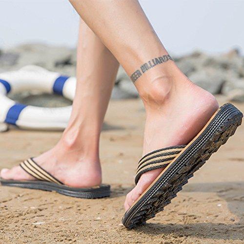 Suela Fiesta Unisex Zapatos De De Casuales Hombres Playa Verano Para Chanclas Sandalias De Brown Suave De W4POEU