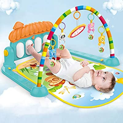 GXOK Large Baby Game Pad Music Pedal Piano Music Fitness Rack Crawling Mat,Early Education Learning Enlightenment Developmental Gift [Ship from USA Directly]: Clothing
