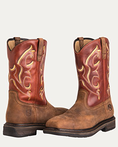65003 Steel Mens Toe Noble Outfitters Boots Burnt Work Orange Tough Ranch Yxqg8