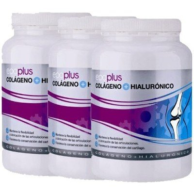 Epaplus - Pack 3 u. EPAPLUS COLAGENO 420 GR. + A.H - EPAPLUS-