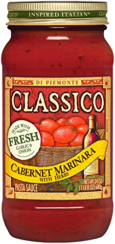 Classico Cabernet Marinara Herb Pasta Sauce (24 oz Jars, Pack of 12)