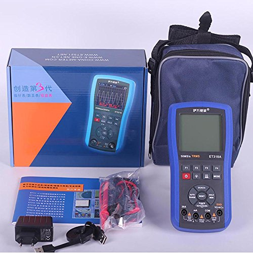 ET310A Digital Storage Oscilloscope Multimeter 10MHz Single Channel 50MS/s Sample Rate Oscilloscope Multimeter Professional Handheld LED Scopemeter Oscilloscope Multimeter A/D Automatic Waveform by EONE