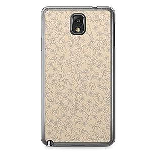 Floral Samsung Note 3 Transparent Edge Case - Beige Linear