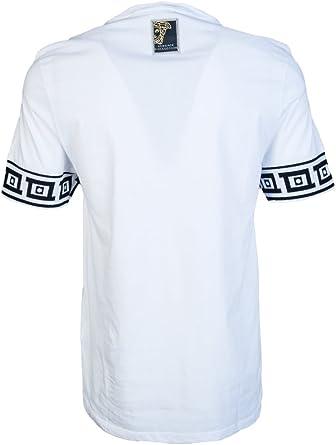 Versace - Camiseta - para hombre blanco blanco Medium: Amazon ...