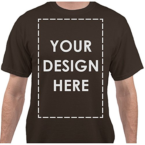 Add Your Own Custom Text Name Personalized Message or Image Dark Chocolate Brown T-Shirt - (Personalized Dark Chocolate)
