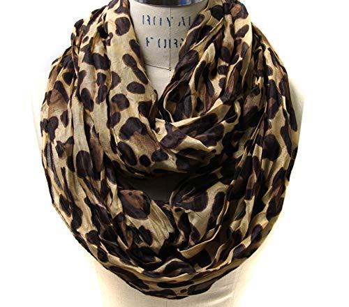 Scarfand's Leopard Infinity Scarf (Camel) ()