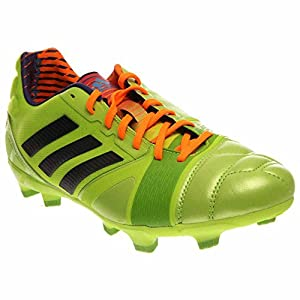 adidas Performance Men's Nitrocharge 2.0 TRX Firm-Ground Soccer Cleat, Solar Slime/Black/Solar Zest, 10.5 M US