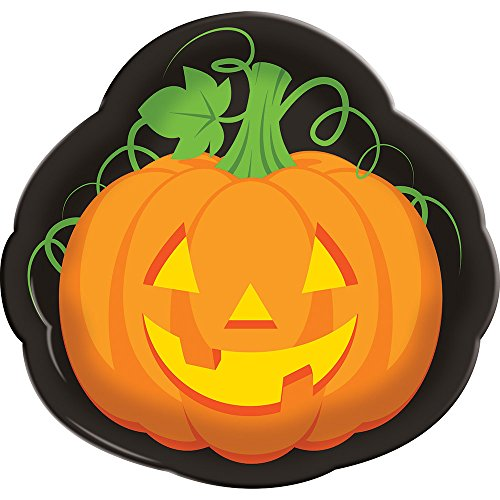 Creative Converting 324370 12-Count Halloween Plastic Serving Trays,