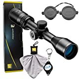 Nikon Prostaff P3 Muzzleloader Scope 3-9x400 BDC 300 Riflescope - 16603 Bundle with a Cleaning Cloth and Lumintrail Keychain Light