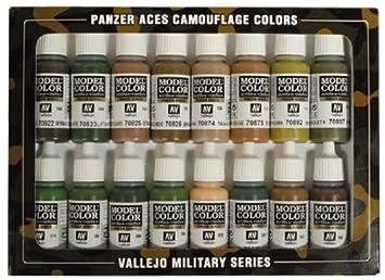 Vallejo Usa Coffret De 16 Pots De Peinture Acrylique Pour Modélisme