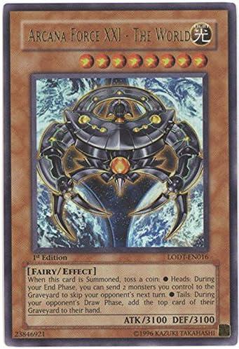 Yugioh Arcana Force XXI The World LODT-EN016 Ultra Rare 1st Edition