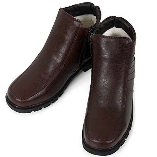 Nya Bruna Kvinnor Vinter Komfort Zip Boots Snö Varm Läderskor