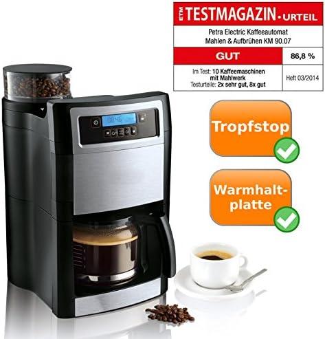 Compacto Cafetera con molinillo de café integrado, para moler y aufbrühen de 1,25 litros café: Amazon.es: Hogar