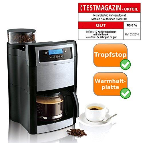 Compacto Cafetera con molinillo de café integrado, para moler y ...