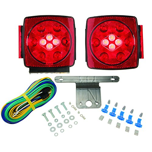 Blazer C7425 LED Square Trailer Light Kit with Integrated Back-Up - Lighting Trailer Small