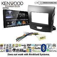 Volunteer Audio Kenwood DMX7704S Double Din Radio Install Kit with Apple CarPlay Android Auto Bluetooth Fits 2007-2013 Mitsubishi Outlander