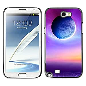 Planetar® ( Radiance Of The Furple Sun ) SAMSUNG Galaxy Note 2 II / N7100 Fundas Cover Cubre Hard Case Cover