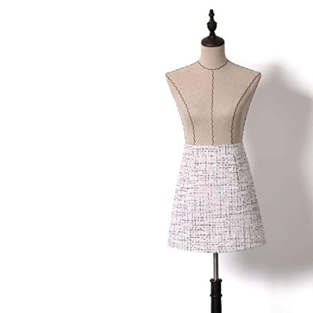 QZBTU Faldas Mujer Falda A Cuadros Pequeña Fragancia Cintura Alta ...
