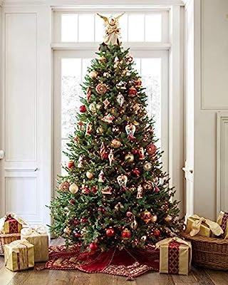 balsam hill bh balsam fir premium prelit artificial christmas tree 65 feet led clear lights - How Many Feet Of Christmas Lights For 7 Foot Tree