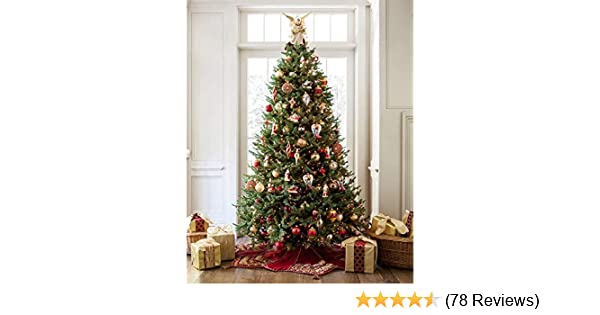 amazoncom balsam hill bh balsam fir premium prelit artificial christmas tree 65 feet led clear lights home kitchen