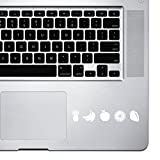 StickAny Palm Series Fruit Icons Sticker for Macbook Pro, Chromebook, and Laptops (White)