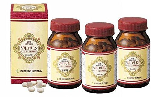3個セット 世田谷自然食品 グルコサミン コンドロイチン 240粒 B00C59V18O