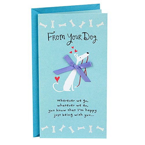 Hallmark Mother's Day Card from Dog (Dog with Red Bow, You're My Favorite)