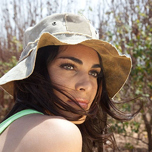 Tarp Recycled - Real Deal Brazil Tan Recycled Cotton Canvas The Floppy Travel Hat S