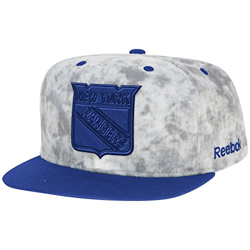 96ce613b1 NHL New York Rangers Men s Acid Wash Flat Brim Snapback Hat