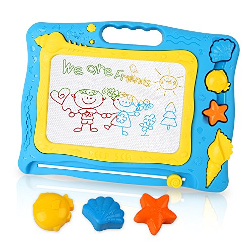 Magnetic Drawing Board for Kids, STEM Early Learning Educational Toys for 2 3 4 5 6 Year Old Boys Girls