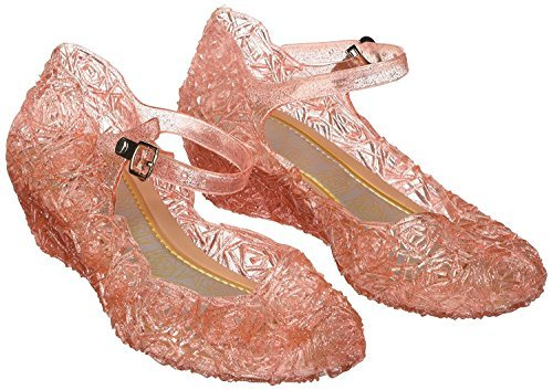 Girls Princess Elsa Shoes For Halloween Costumes (Pink) Kids Size 11.5 (Disney Princess Halloween Costumes Uk)
