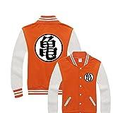 Sayings Unisex Dragon Ball Z Baseball Jacket (Medium, Orange)