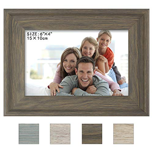 (Julone 4x6 Picture Frames (Olive Green 1 Pack) Made of Wood Finish High Definition Glass for Table Top Display and Wall Mounting Photo Frame)