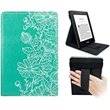 WALNEW Stand Cover for Kindle Paperwhite - Protective Cover for Kindle Paperwhite Vertical Flip Case Auto Wake/Sleep with Hand Strap for All-New Amazon Kindle Paperwhite (Mandala)