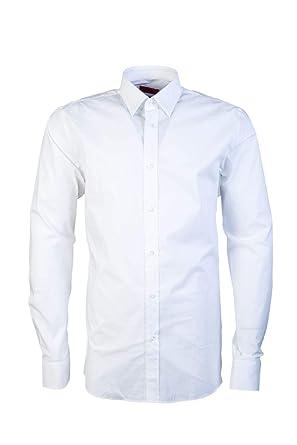 62274271b BOSS Hugo Men Smart Shirt ELISHA01 50289618 Blue: Amazon.co.uk: Clothing