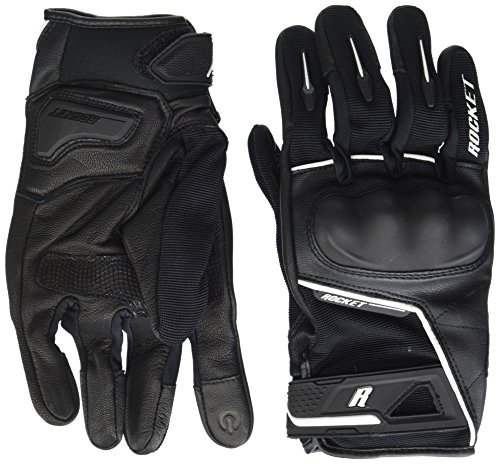 Joe Rocket Men's Super Moto Motorcycle Gloves (Black/White, Large) (Screen Touch Overlay Large)