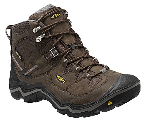 KEEN Men's Durand Waterproof Mid Wide Hiking Boot, Cascade Brown/Gargoyle, 10.5 W US
