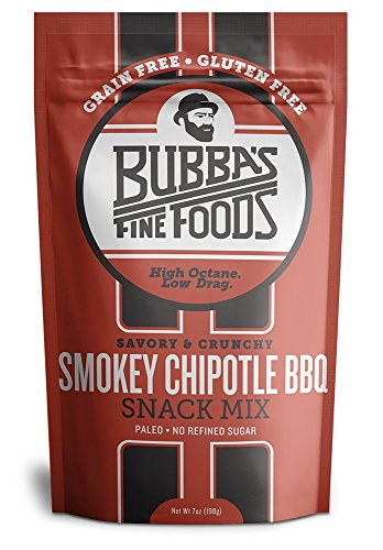 Bubba's Fine Foods Chipotle Honey BBQ Snack Mix: Gluten Free, Grain Free, Paleo