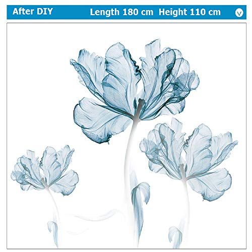 DERUN TRADING Wall Stickers & Murals Home Décor Home Décor Accents for Living Room Flower Wall Decals Home Improvement Paint Wall Treatments Wall Decals Murals Decor Vinyl Removable Mural Paper … by DERUN TRADING (Image #8)
