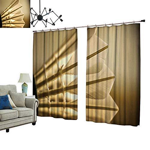 PRUNUS Blackout Window Curtain with hookshot Badminton Shuttlecock Feathers Part Balance Indoor Temperature,W84.3 xL108 ()