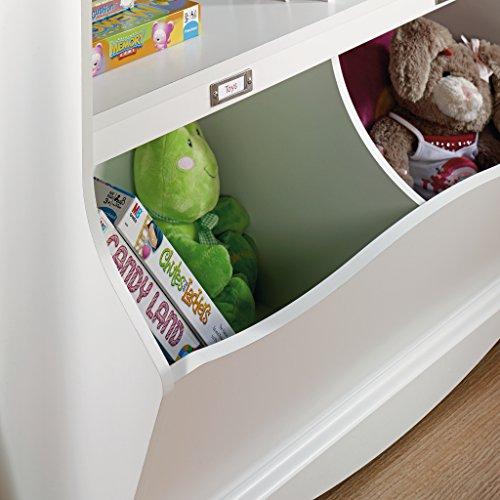 Sauder Pogo Bookcase/Footboard, Soft White Finish