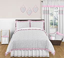 Pink and Gray Kenya Accent Floor Rug by Sweet Jojo Designs