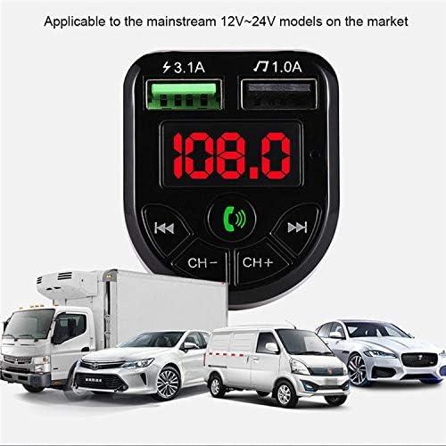 H-F Vehicle Bluetooth FM Transmitter Calling Car Van Play Song FM